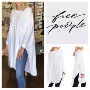 Free People Telltale Cotton Blend Tunic Top.  NWT.